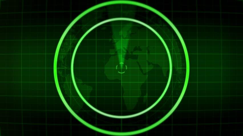 Blank Radar Monitor Screen    Shutterstock HD Video #4901936