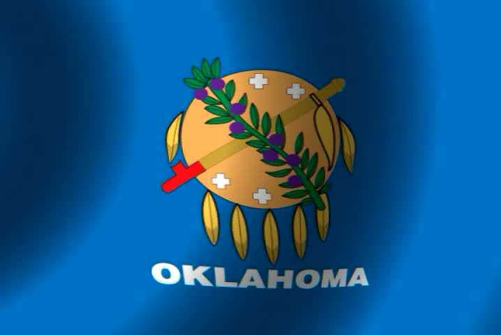 Waving 100 Of Royalty-free In Shutterstock Flag Oklahoma 4916 Stock Video Footage