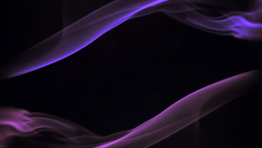 Spins Of Multicolor Smoke In Black Background, Visual Effects ...