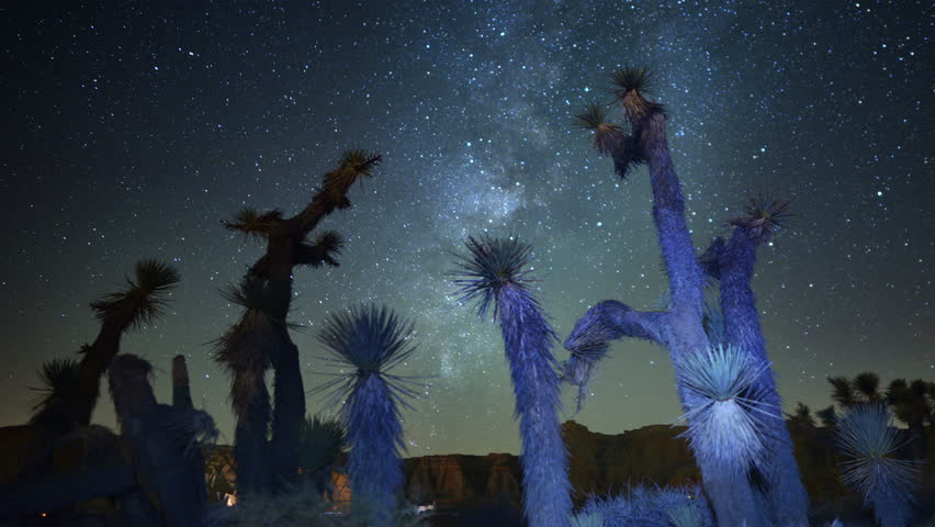 Draconids Meteor Shower 02 4K Dolly R and Up Joshua Tree Milky Way Timelapse