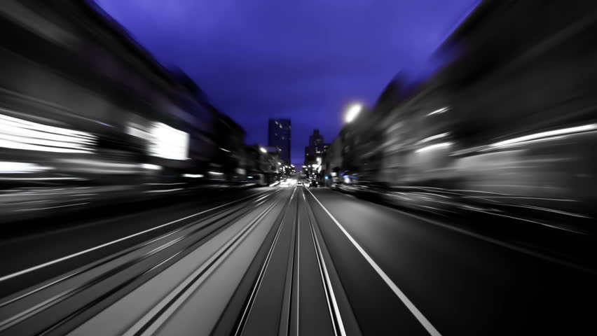 San Francisco city driving time lapse using a B & W photo and zoom blur effects. | Shutterstock HD Video #4966286