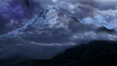Eiger Nordwand Switzerland Storm, rain, Timelapse