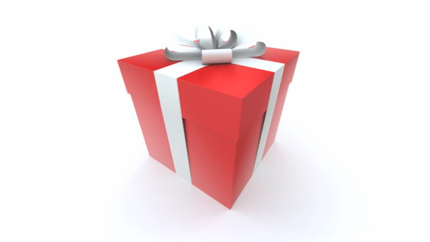 Gift boxes stock footage video shutterstock big red gift box with a white ribbon turning around negle Images