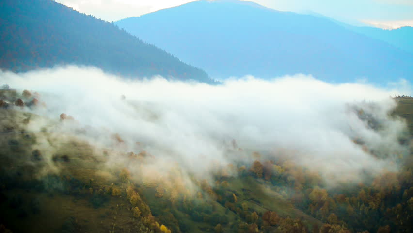 Fog in Carpatian mountains | Shutterstock HD Video #5043656