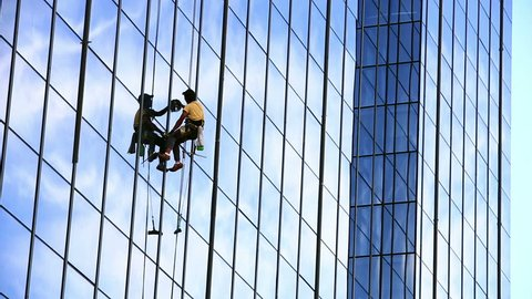 skyscraper window glass cleaner