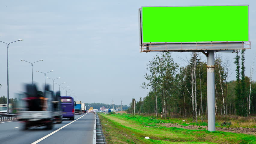 billboard with a green screen #5080136