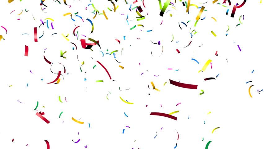 Animation Of Colorful Confetti Falling Hd Stock Video Clip