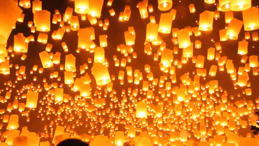lantern festival travel Destinations,Chiangmai Thailand.