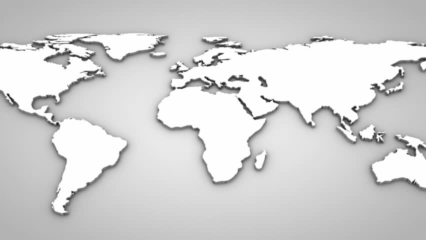 Stock Video Clip of World Map Gray background 3 in 1 Shutterstock