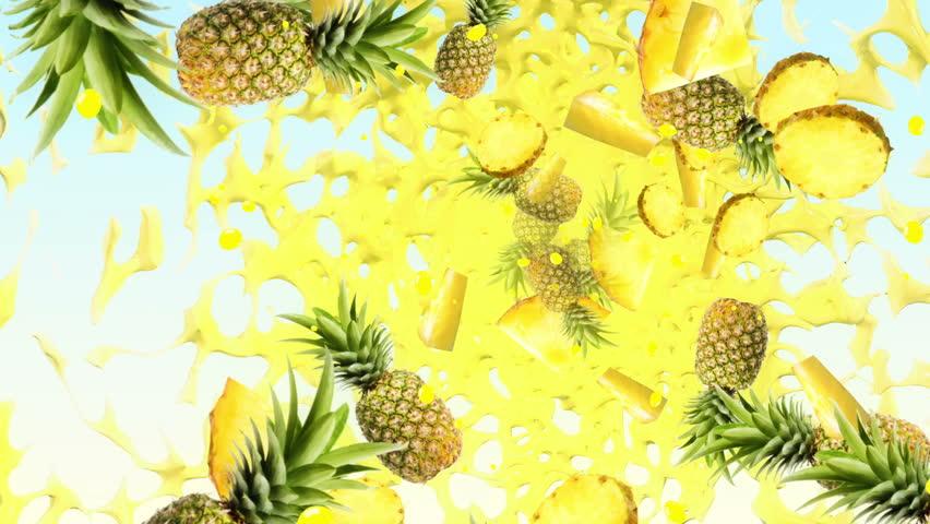 Pineapple Fresh Background #5122949