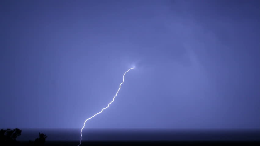 lightning during a thunderstorm at night #5123306