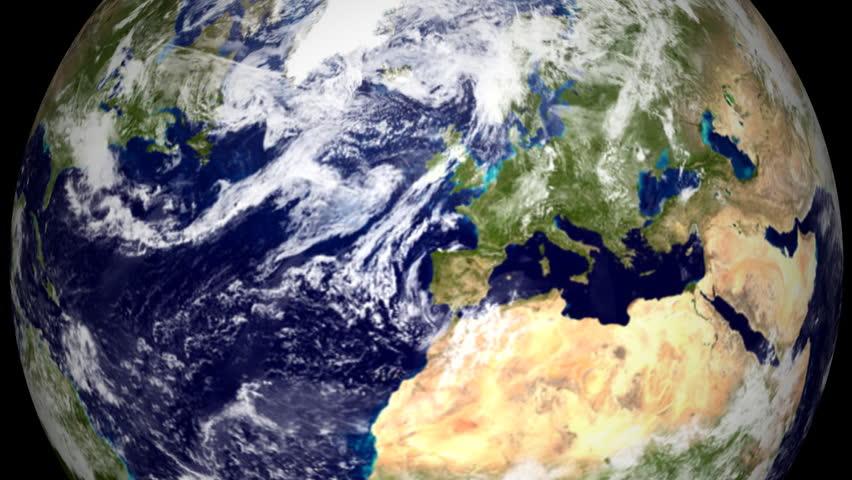 K Earth Zoom Columbus USA Stock Footage Video - Usa northern hemisphere