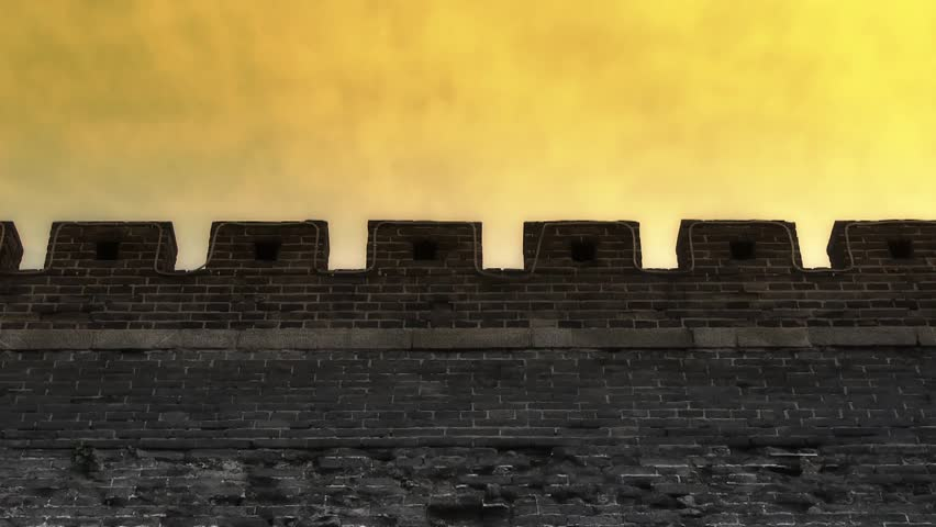 Ancient city Great Wall Battlements.Weathering of masonry. gh2_02846
