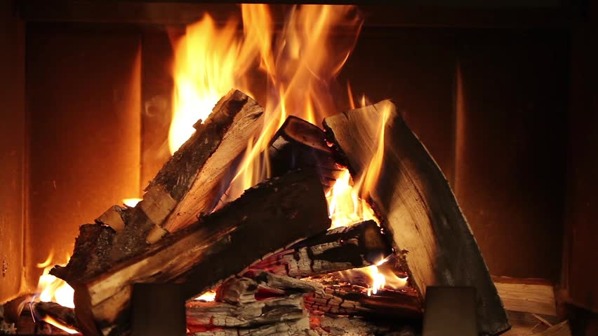 Burning Wood In The Fireplace Stock Footage Video 5165126 ...