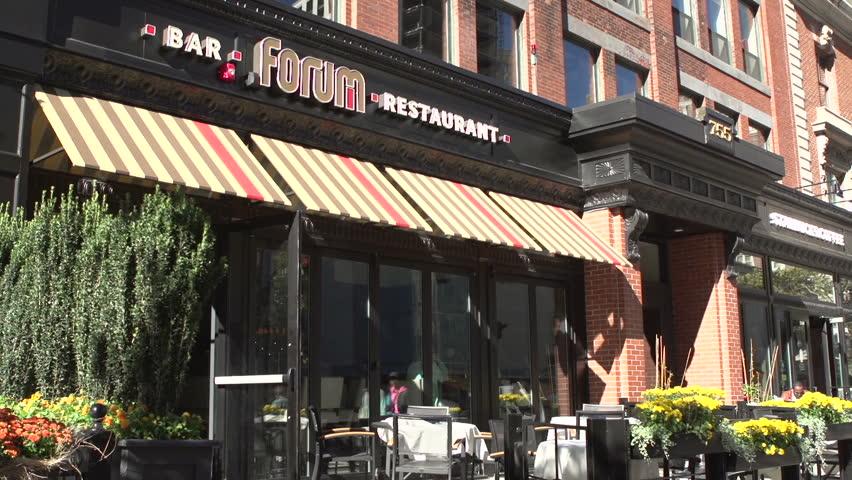 BOSTON, MA - SEPTEMBER 3 : Location of Boston Marathon Bombing, which occurred on April 15th 2013, taken on September 3, 2013 in Boston, Massachusetts.