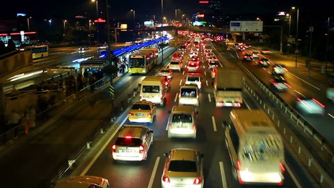 E5 Road a traffic nightmare. Timelapse. Istanbul has the second worst congestion in the world, with the average journey taking 57 percent longer compared to less traffic on the road. Metrobus line