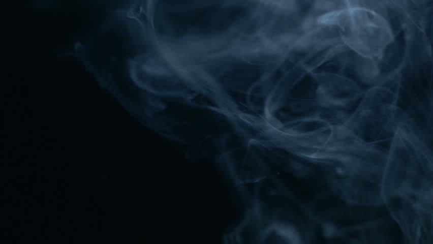 Smoke background. Smoke slow floating in space against black background.