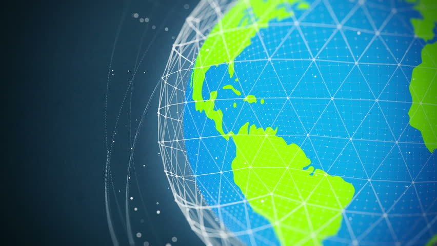 Animated globe with a dotted world map on a light background perfect global network communication close up looped high quality animation hd stock video clip gumiabroncs Images
