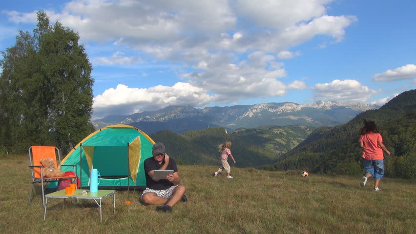 Camping Family Stock Footage Video