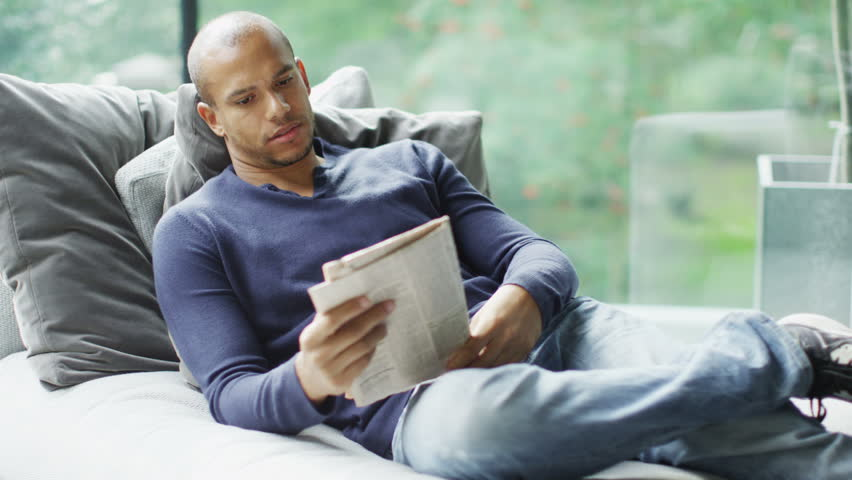 Man Relaxing At Home Images Galleries