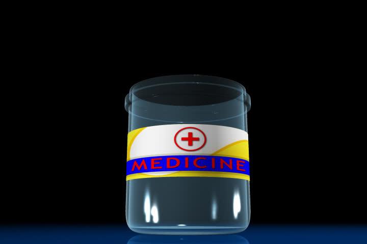 Digital footage of capsule bottle in colour background | Shutterstock HD Video #524116