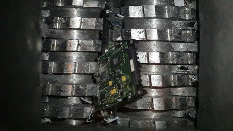 Hard drive data destruction using a hard drive shredder