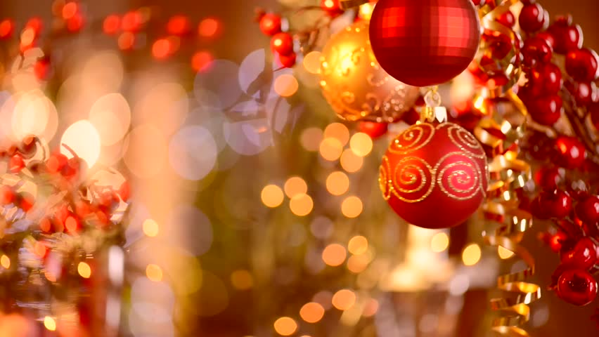 christmas and new year decoration abstract blurred bokeh holiday background blinking garland christmas - Christmas Lights Video