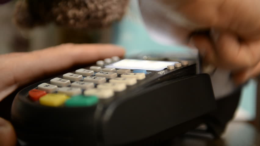 Credit card payment terminal. Transfer payment   | Shutterstock HD Video #5291846