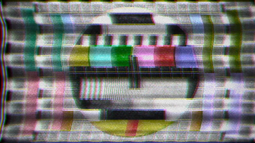 Analogue Old Crt Tv Test Stock Footage Video 100 Royalty Free
