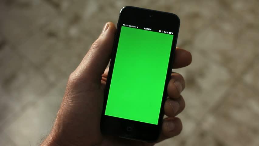 SMARTPHONE GREEN-SCREEN LEFT HAND
