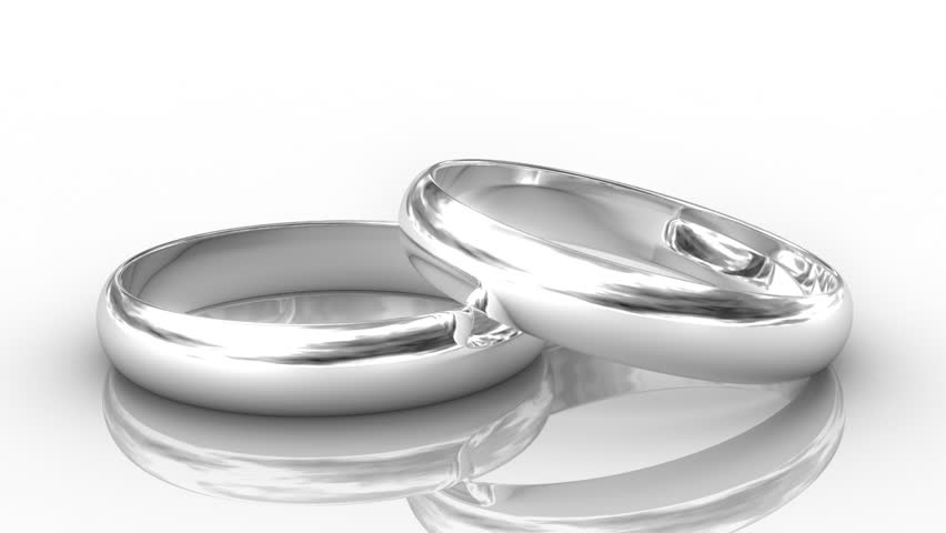white on stock silver rings photo wedding background isolated