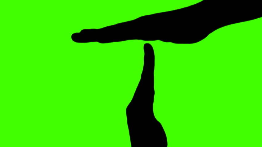 Time out hand signal silhouette - green | Shutterstock HD Video #537586