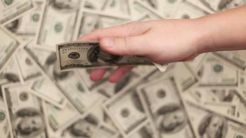 Giving Money  | Shutterstock HD Video #5392466