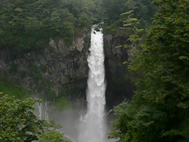 powerful japanese waterfall