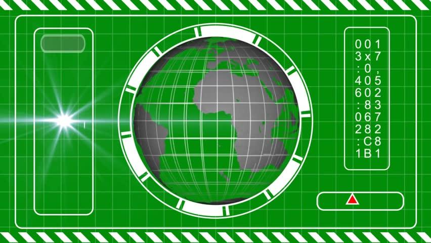 Sci Fi HUD Concept - green screen