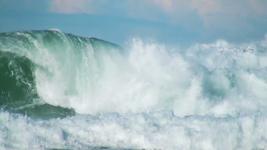 Ocean green wave  | Shutterstock HD Video #5445086