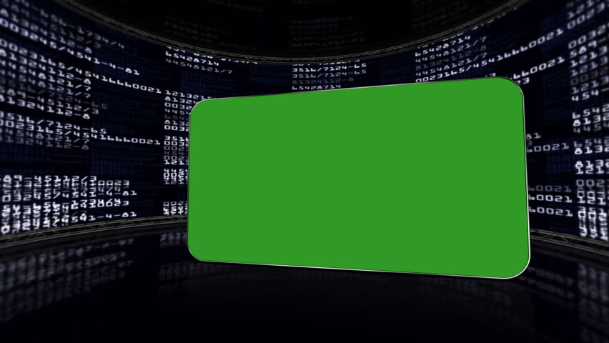 Green Screen Monitor in Numbers Room, with Alpha Channel   Shutterstock HD Video #5448536