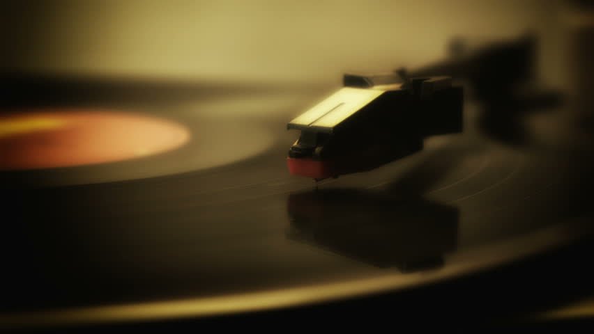 Record player turntable HD stock footage. A record player turntable with it's stylus running along a vinyl record   Shutterstock HD Video #5456018