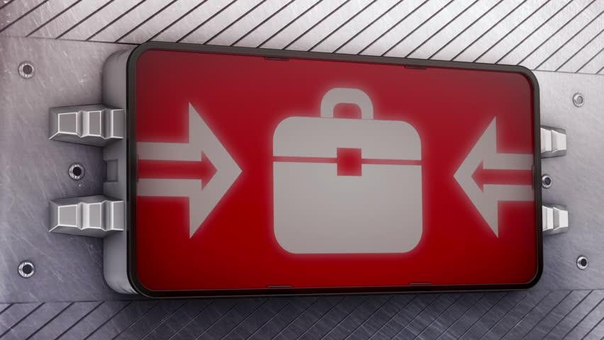 Briefcase. Looping. | Shutterstock HD Video #5465726