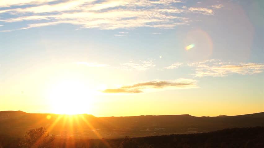 sunset pecos new mexico dusk fall sun below #5525306