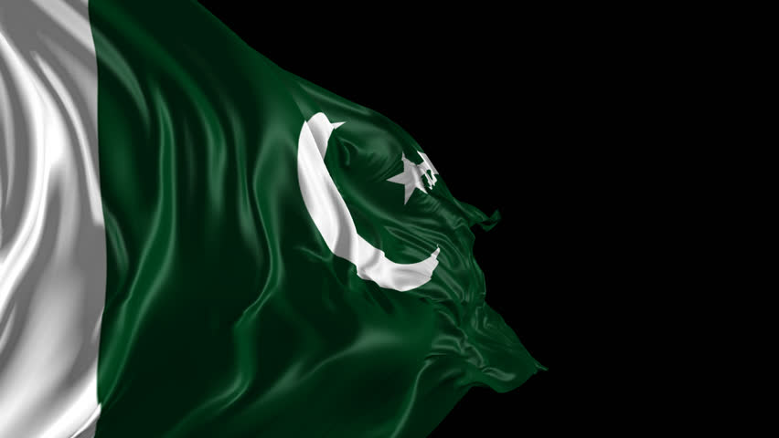 Flag of Pakistan Beautiful 3d animation of Pakistan flag with alpha channel
