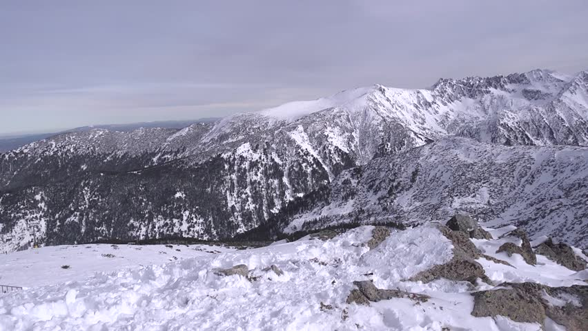 Snowy peaks of the Pirin Mountains
