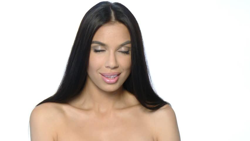 Beautiful and sexy woman sending kiss