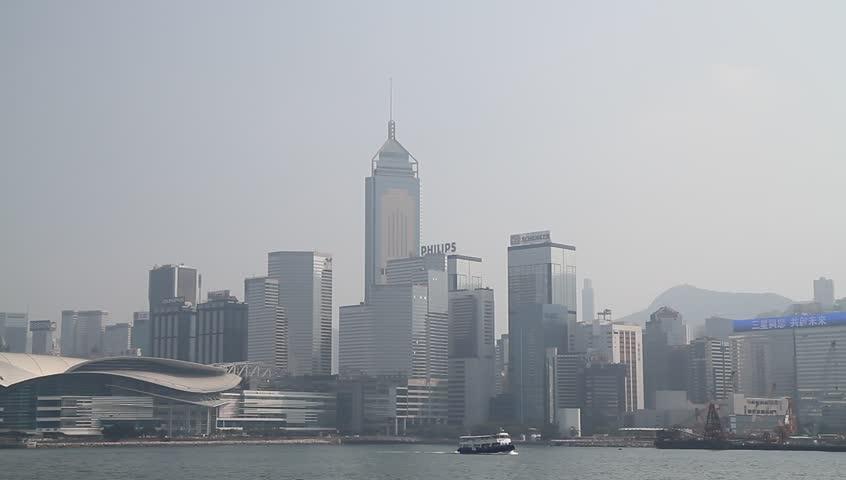 HONG KONG - CIRCA 2014: Hong Kong Skyline, nice sunny day. | Shutterstock HD Video #5605766