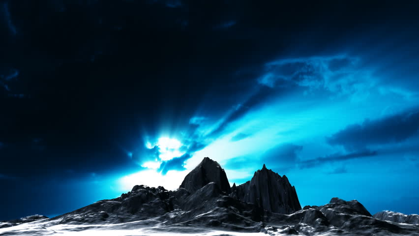 Dark mountain with time lapse clouds | Shutterstock HD Video #562486