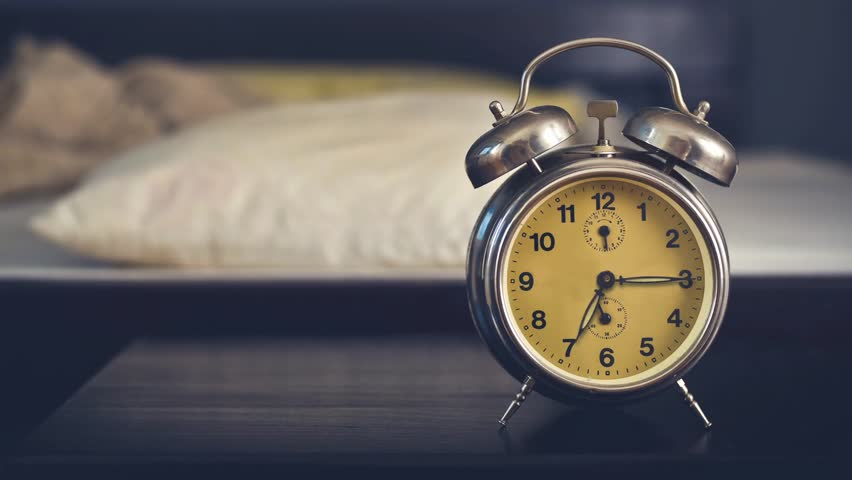 Vintage Alarm Clock In Bedroom On A Night Table By The Bed  1920x1080 1080p Hd Format Stock Footage Video 5673686 Shutterstock