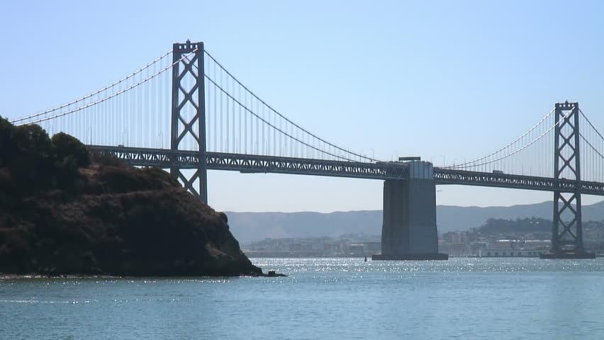 San Francisco and the Bay Bridge from Treasure Island (pan)  #571666