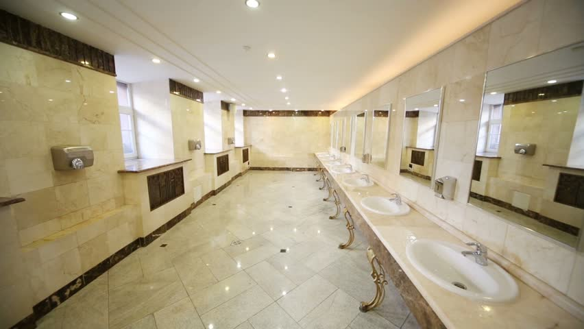 Public Bathroom Sink Spacious Toilet With Marble Flooring And Countertops For Stylish Sinks Design Ideas