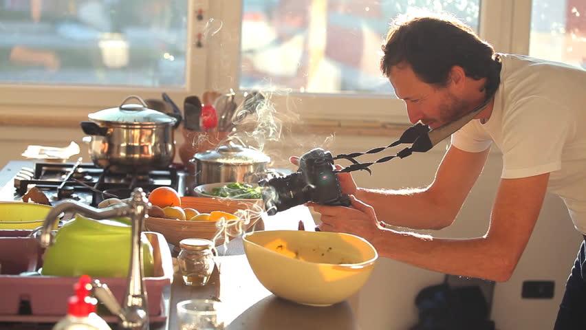 videographer filming kitchen scene