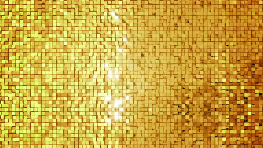 Gold Tile Background Loop Stock Footage Video 1306471